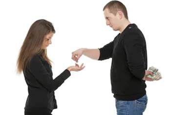 husband wife monetary dispute